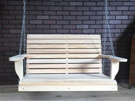3 Ft Porch Swing by Cypress 3 Foot Roll Back Porch Swing Magnolia Porch Swings
