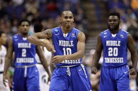 michigan state upset  middle tennessee celebration