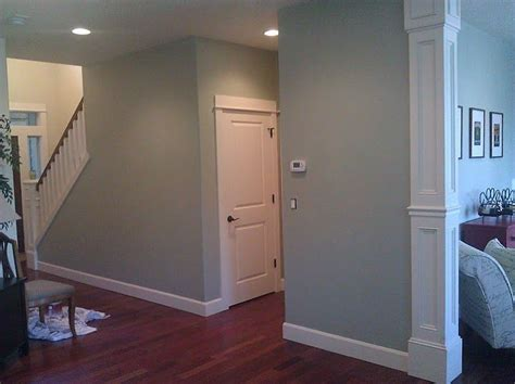 date by miller paint green blue grey this color changes so much with lighting so happy