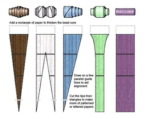 paper bead template guide to paper big bead
