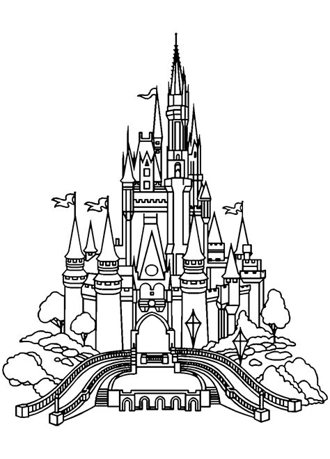 castle coloring pages  adults