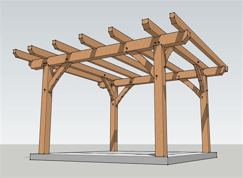 12x12 Timber Frame Pergola Plan
