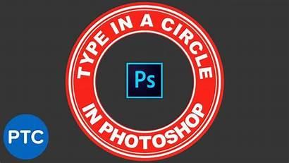 Photoshop Circle Circular Melengkung Tulisan Membuat Path