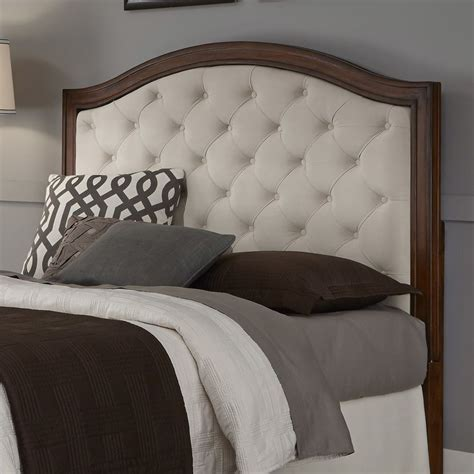 upholstered and wood headboard upholstered headboard mahogany cherry wood camelback
