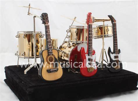 miniature pcs golden drums  set  guitar dr
