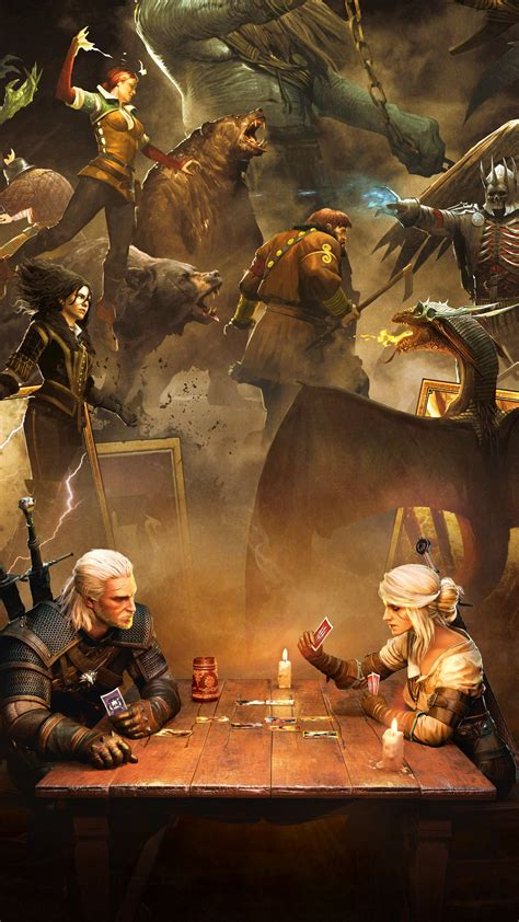 wallpaper gwent  witcher card game playstation