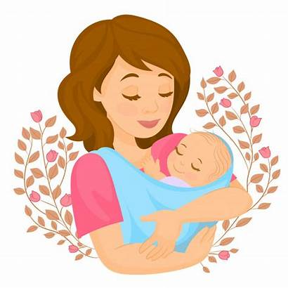 Mother Vector Child Flowers Card Hijo Madre