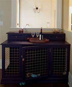 dog bed crate server With buffet table dog crate