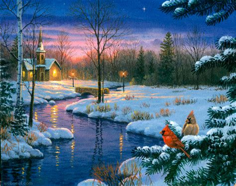 christmas paintings  full image