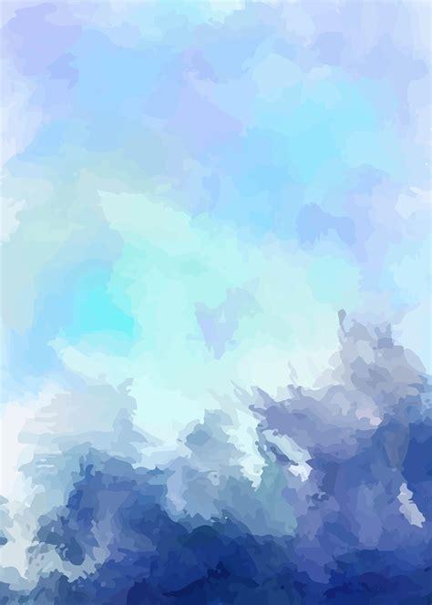 art vector blue background fresh ink watercolor blue art