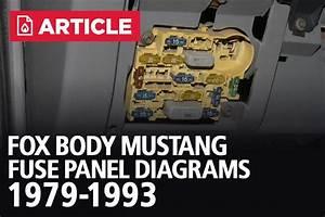 Fox Body Mustang Fuse Panel Diagrams