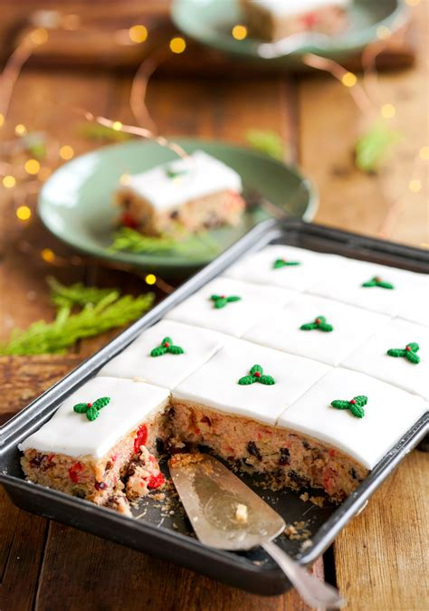 christmas sheet cake recipe  marzipan fondant icing