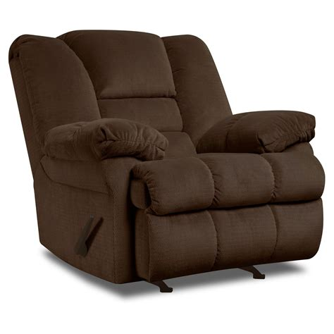 rocker recliners on simmons dynasty rocker recliner chocolate recliners at