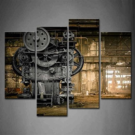 shipping  pcsset waste machines series canvas print