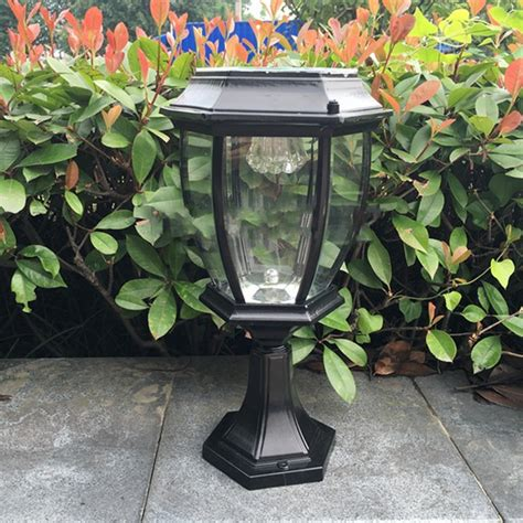 Outdoor Exterior Solar Powered Led Pillar Light Post Lamp