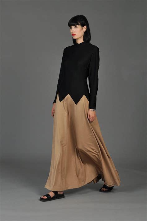 Tone Black Bronze Zigzag Maxi Dress Bustown Modern