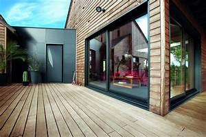 Baie Coulissante Bois : menuiserie may baie coulissante mixte bois alu mc france ~ Premium-room.com Idées de Décoration