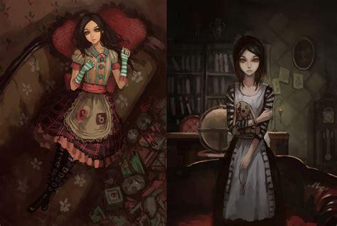 video games artwork american mcgees alice alice