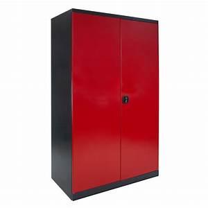 Schrank xxl anthrazit rot metall schrank werkzeug 40913 ebay for Xxl schrank