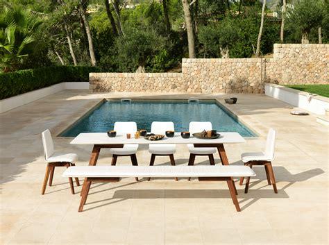 corian wood corian 174 garden bench slim wood bench 160 by viteo design