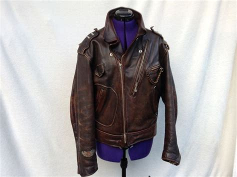 Beautiful Brown Leather Harley Davidson Motorcycle Jacket