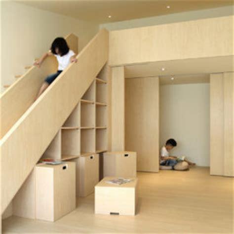space saving stair storage design  plywood