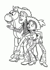 cowboys  toy story coloring pages  kids printable  coloing kidscom