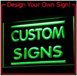 custom  design led neon light signs  bar man