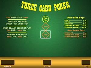 Three Card Poker For Real Money Or Free Wizard Of Odds