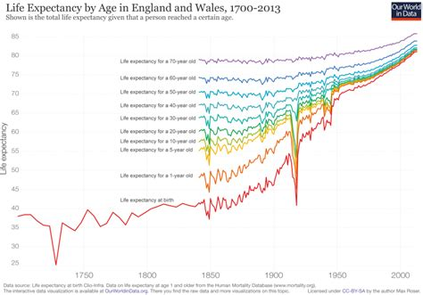 what is the average lifespan of a life expectancy our world in data