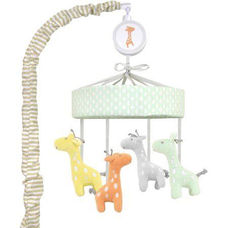 crib mobile walmart child of mine by s giraffe family musical crib