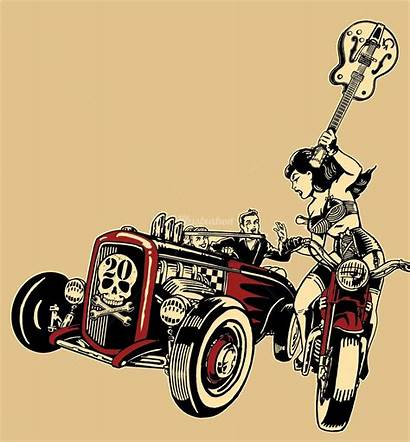 Vince Ray Rockabilly Illustrationweb Artist Graphic Gothabilly