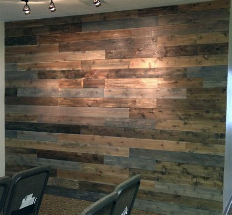 Faux Weathered Wood Walls