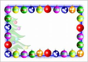 Christmas A4 Landscape Page Borders 2 SB6310 SparkleBox