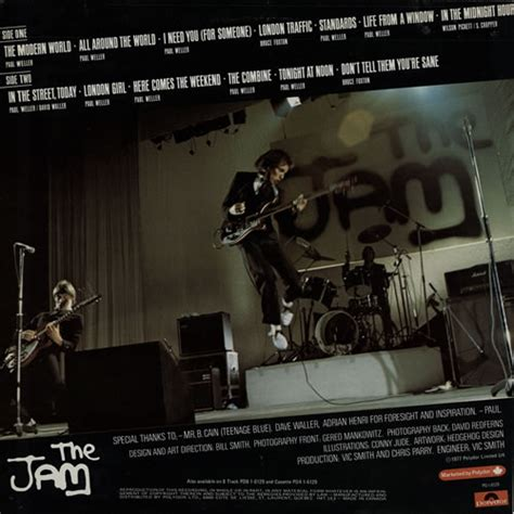the jam the modern world the jam studio album this is the modern world the jam information pages by kevin lock