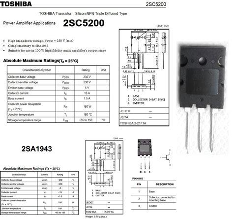 2sa1943 by pacalaya electronics 2sa1943 pnp and 2sc5200 npn transitor electronic circuit