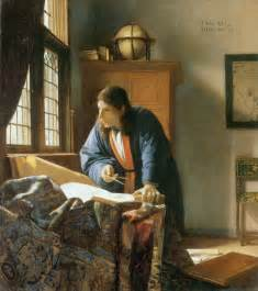 lost earring back the geographer by johannes vermeer