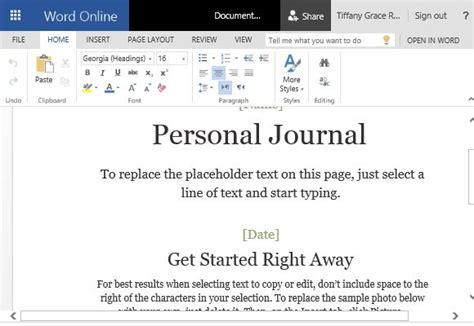 is journaling a word how to make a cloud based personal journal in word