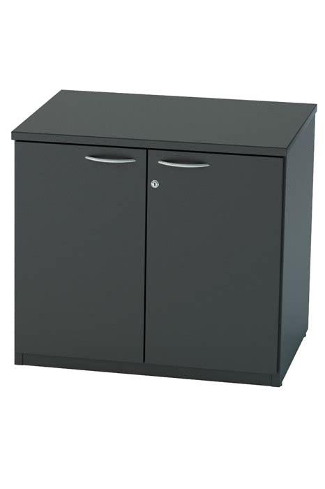 Black Office Cupboard by Black Desk High Office Cupboard Lockable Nene