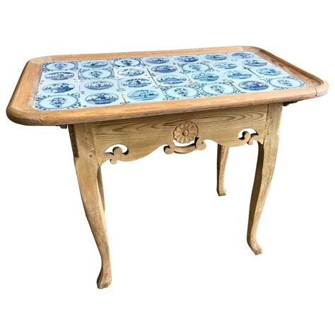 18th century delft tile top table for sale at 1stdibs