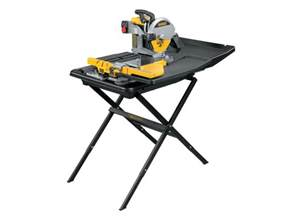 dewalt d24000stand2 240v tile saw with slide table and d240001 stand
