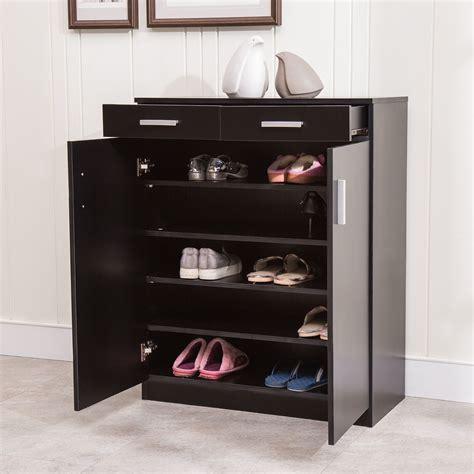 Closet Shoe Racks by 5 Shelf Shoe Rack 2 Drawers Entryway Stand Organizer