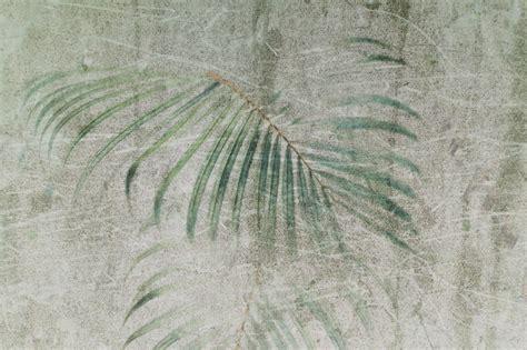 carta da parati moderna raffigurante foglie  palma