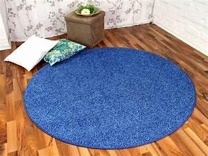 Teppich Hochflor Blau : hochflor shaggy teppich prestige blau rund in 7 gr en teppiche hochflor langflor teppiche gr n ~ Indierocktalk.com Haus und Dekorationen