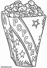 Popcorn Coloring Pages sketch template