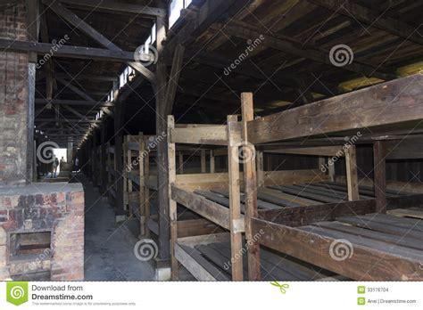 accommodation  auschwitz ii birkenau editorial stock