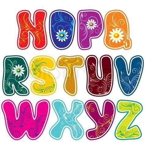 lateinischen alphabets teil  vektorgrafik colourbox
