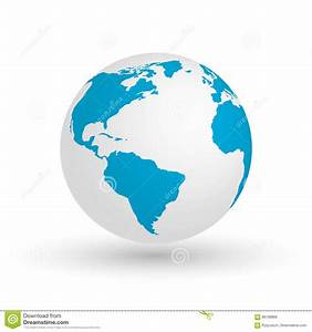 3D Earth Globe. Vector EPS10 Illustration Of Planet With ...