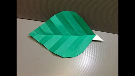 daily origami  leaf  youtube