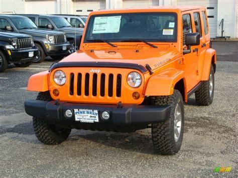 jeep rubicon orange 2012 crush orange jeep wrangler unlimited rubicon 4x4